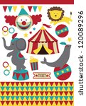 cute circus elements collection.... | Shutterstock .eps vector #120089296