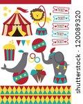 Cute Circus Elements Collectio...