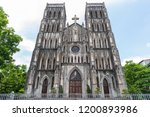 st joseph's cathedral is a old... | Shutterstock . vector #1200893986