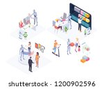 robot supporting concept | Shutterstock .eps vector #1200902596