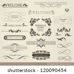 calligraphic design elements... | Shutterstock .eps vector #120090454