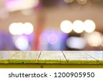 wooden table in front of... | Shutterstock . vector #1200905950