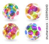 Abstract Globe Set. Vector...