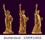 Gold Statue Of Liberty Set  Ne...