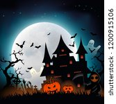 background halloween  halloween ... | Shutterstock .eps vector #1200915106