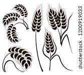 set of simple wheats ears icons | Shutterstock .eps vector #1200919033