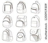 colored teenager school... | Shutterstock .eps vector #1200919309