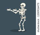 skeleton vector flat style | Shutterstock .eps vector #1200926473