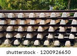 railroad concrete sleepers... | Shutterstock . vector #1200926650