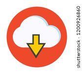 cloud download vector icon   Shutterstock .eps vector #1200926860