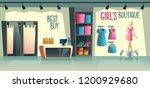 vector girls boutique. female... | Shutterstock .eps vector #1200929680