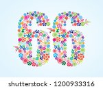 vector colorful floral 66... | Shutterstock .eps vector #1200933316
