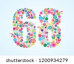 vector colorful floral 68... | Shutterstock .eps vector #1200934279