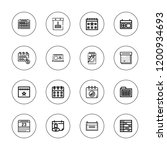 month icon set. collection of... | Shutterstock .eps vector #1200934693