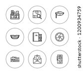 open icon set. collection of 9... | Shutterstock .eps vector #1200934759
