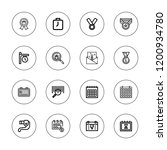 number icon set. collection of... | Shutterstock .eps vector #1200934780