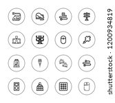 wire icon set. collection of 16 ...   Shutterstock .eps vector #1200934819