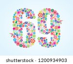 vector colorful floral 69... | Shutterstock .eps vector #1200934903