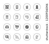 call icon set. collection of 16 ... | Shutterstock .eps vector #1200936046