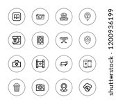 multimedia icon set. collection ...   Shutterstock .eps vector #1200936199