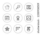 rate icon set. collection of 9... | Shutterstock .eps vector #1200938509