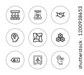 trust icon set. collection of 9 ... | Shutterstock .eps vector #1200938653