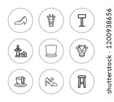 tall icon set. collection of 9... | Shutterstock .eps vector #1200938656