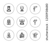 specialist icon set. collection ...   Shutterstock .eps vector #1200938680