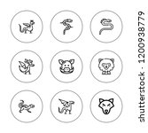 beast icon set. collection of 9 ... | Shutterstock .eps vector #1200938779