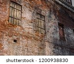 the wall of the old house of... | Shutterstock . vector #1200938830