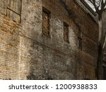 the wall of the old house of... | Shutterstock . vector #1200938833