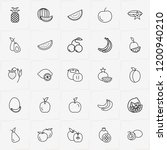 berries and fruits line icon... | Shutterstock .eps vector #1200940210