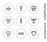 garment icon set. collection of ... | Shutterstock .eps vector #1200942403