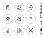 culinary icon set. collection... | Shutterstock .eps vector #1200942496