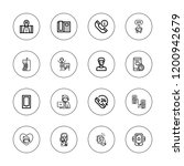 hotline icon set. collection of ...