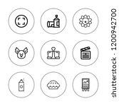 clip icon set. collection of 9... | Shutterstock .eps vector #1200942700