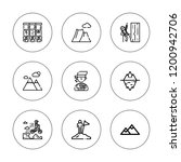 peak icon set. collection of 9... | Shutterstock .eps vector #1200942706