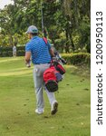 golf is a sport. players use...   Shutterstock . vector #1200950113