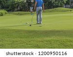 golf is a sport. players use... | Shutterstock . vector #1200950116