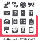 collection of 16 message filled ... | Shutterstock .eps vector #1200950629