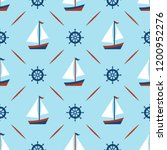 nautical seamless patterns ... | Shutterstock .eps vector #1200952276