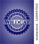 wildcat badge with denim... | Shutterstock .eps vector #1200957010