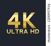 4k ultra hd vector gold sign | Shutterstock .eps vector #1200957916