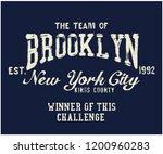 the team of brooklyn varsity... | Shutterstock .eps vector #1200960283