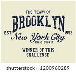 the team of brooklyn varsity... | Shutterstock .eps vector #1200960289