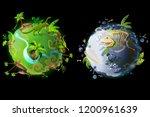 cartoon fantastic planet earth ...