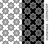 black and white floral... | Shutterstock .eps vector #1200962509