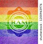 tramp emblem on mosaic... | Shutterstock .eps vector #1200963976