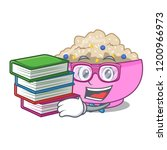 student with book cooked whole... | Shutterstock .eps vector #1200966973