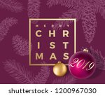 merry christmas abstract vector ... | Shutterstock .eps vector #1200967030